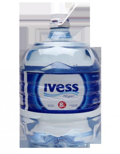 Agua IVESS en botellon descartable 8 lts